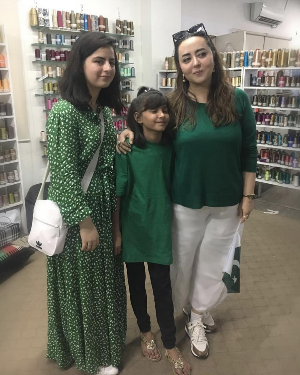 Beautiful Pictures Of Fashion Designer Maria B With Her Family Reviewit Pk