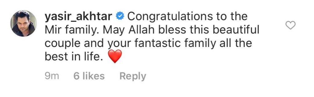 Pakistani Celebrities Congratulated Ahad And Sajal On Their Wedding