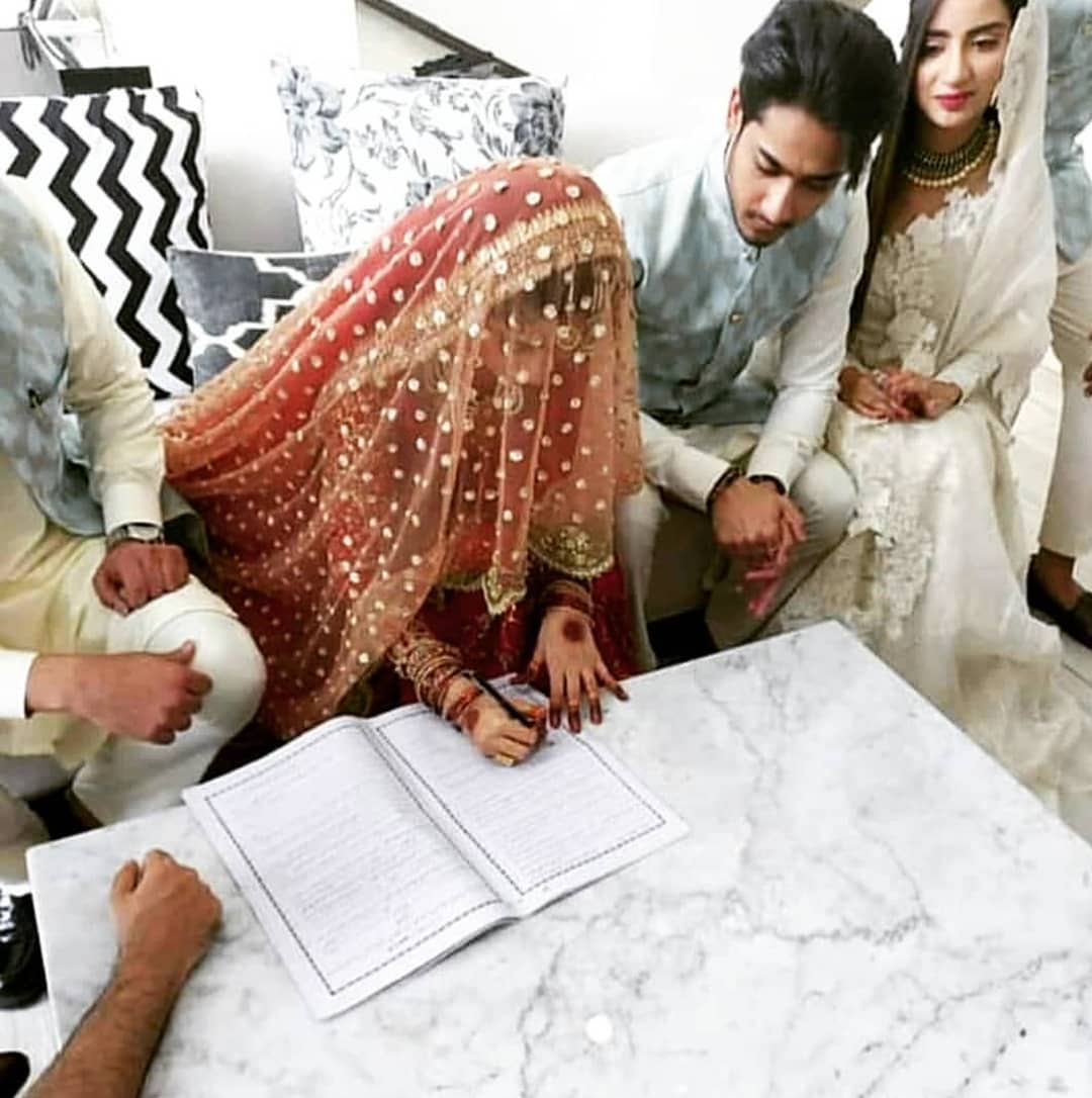 Beautiful HD Pictures from Sajal Ali And Ahad Raza Mir Nikah Event