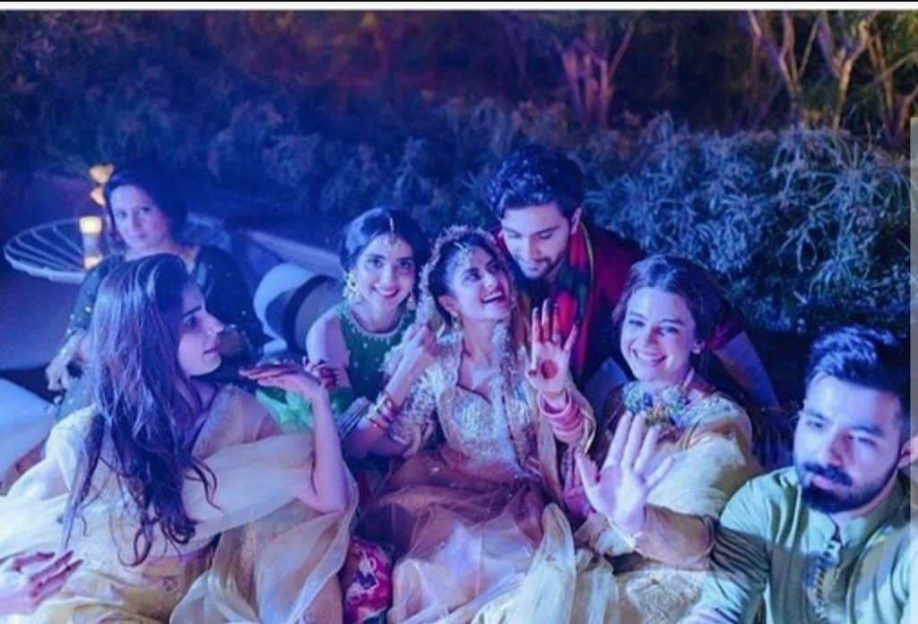 Ahad And Sajal Beautiful Mehndi Pictures