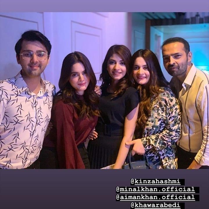 Aiman Khan, Minal Khan and Muneeb Butt Beautiful Clicks from Recent Birthday Party