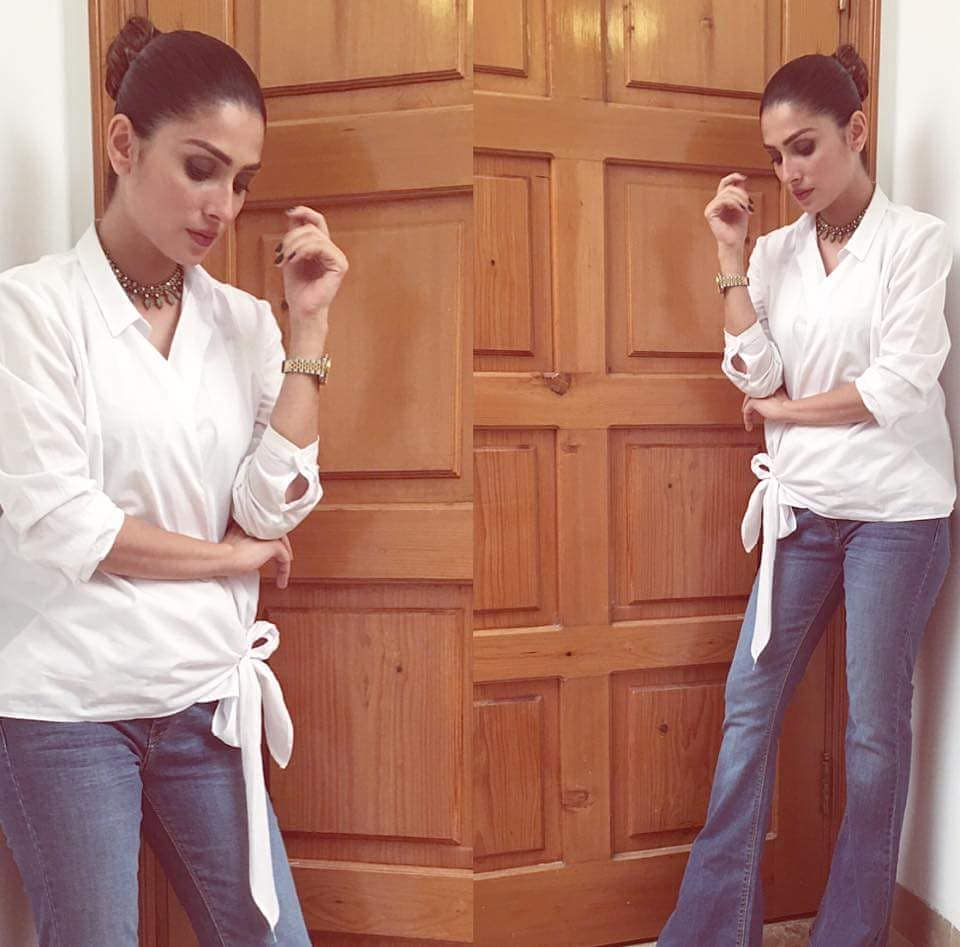 Beautiful Pictures of Ayeza Khan in Casual Dresses