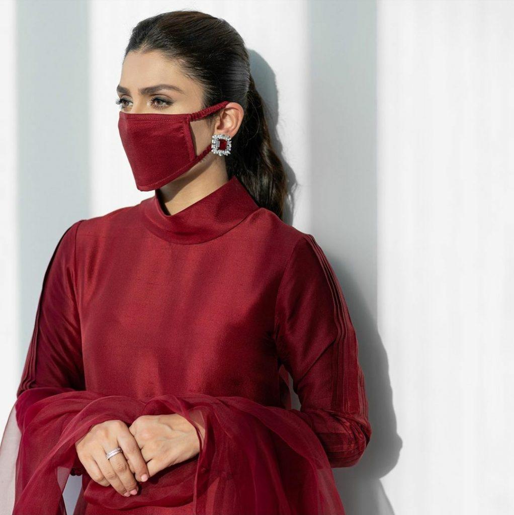 Ayeza Khan's Latest Photoshoot In Face Mask