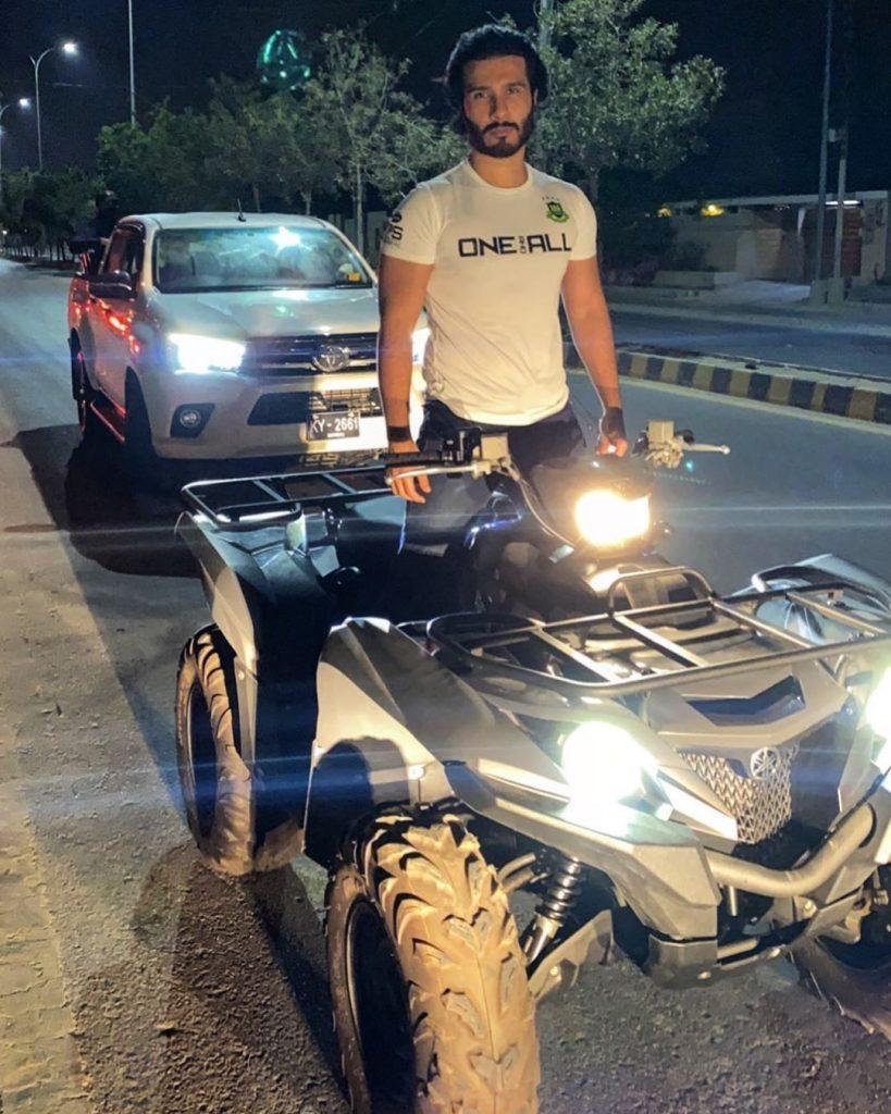 Feroze Khan Riding Quad Bike