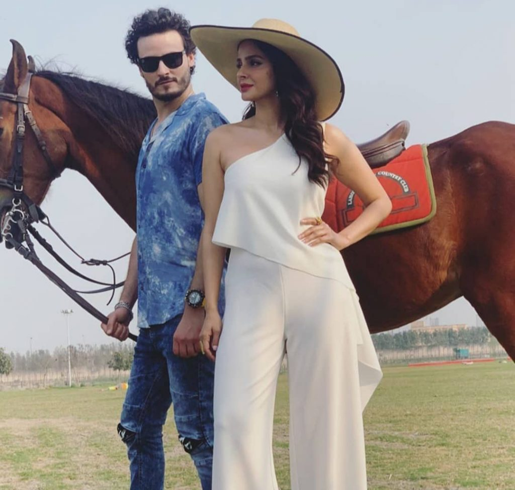 Sizzling Photo Shoot of Osman Khalid Butt and Saba Qamar