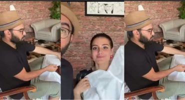Iqra Aziz And Yasir Hussain Prepared Suit For Doctors 22