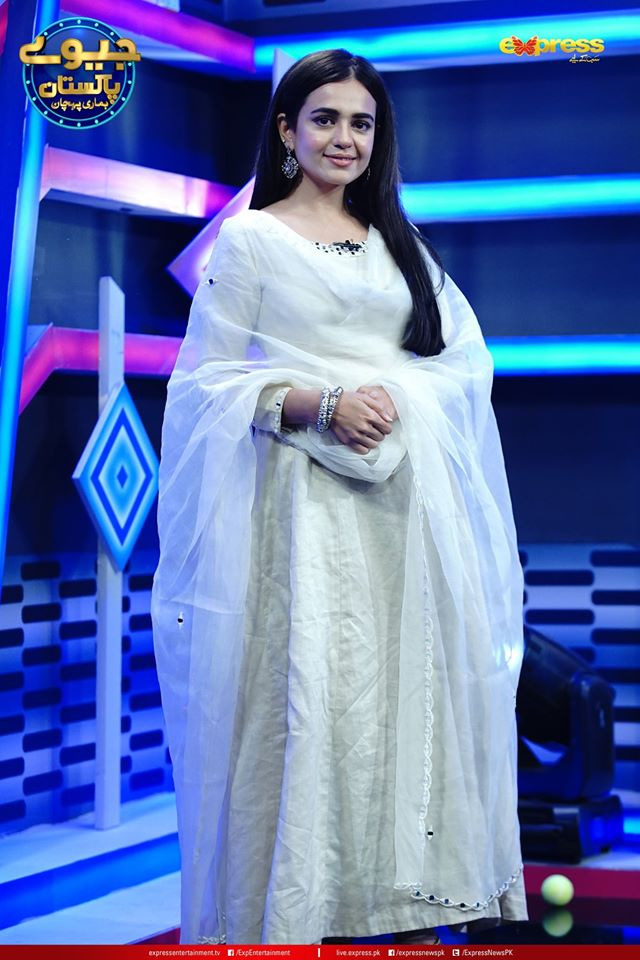 Sumbul Iqbal Pictures from Jeeeway Pakistan Game Show with Dr Aamir Liaquat