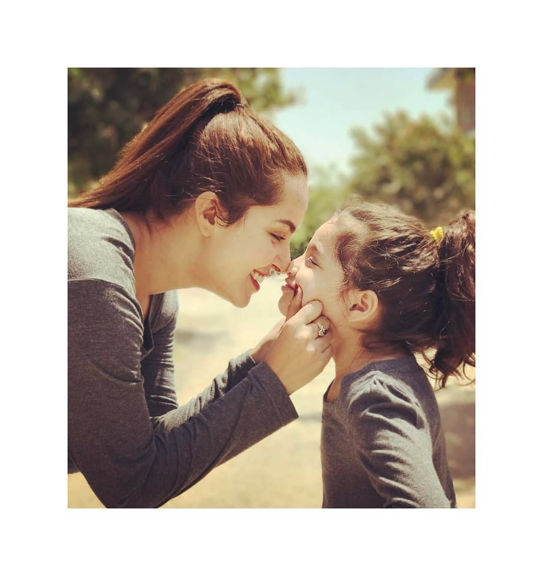 Actress Nimra Khan Latest Pictures with her Little Cute Sister
