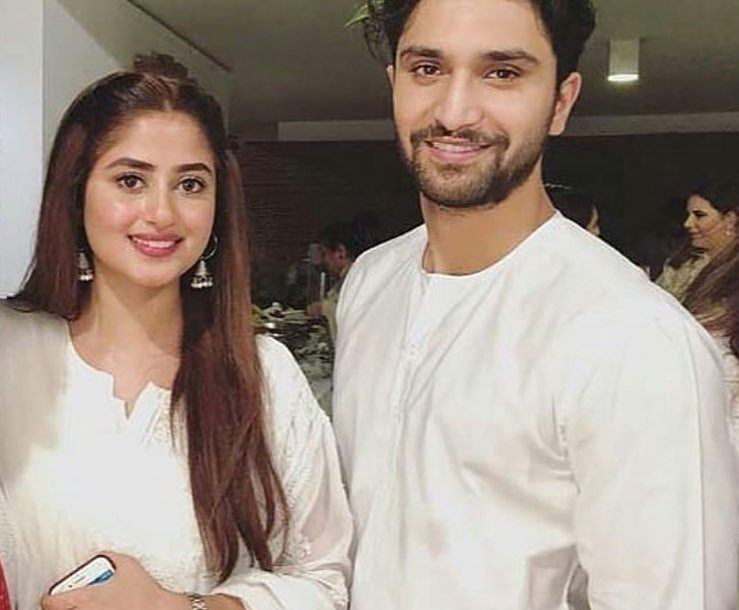 Ahad Raza Mir Wife Sajal Aly | Romantic Pictures