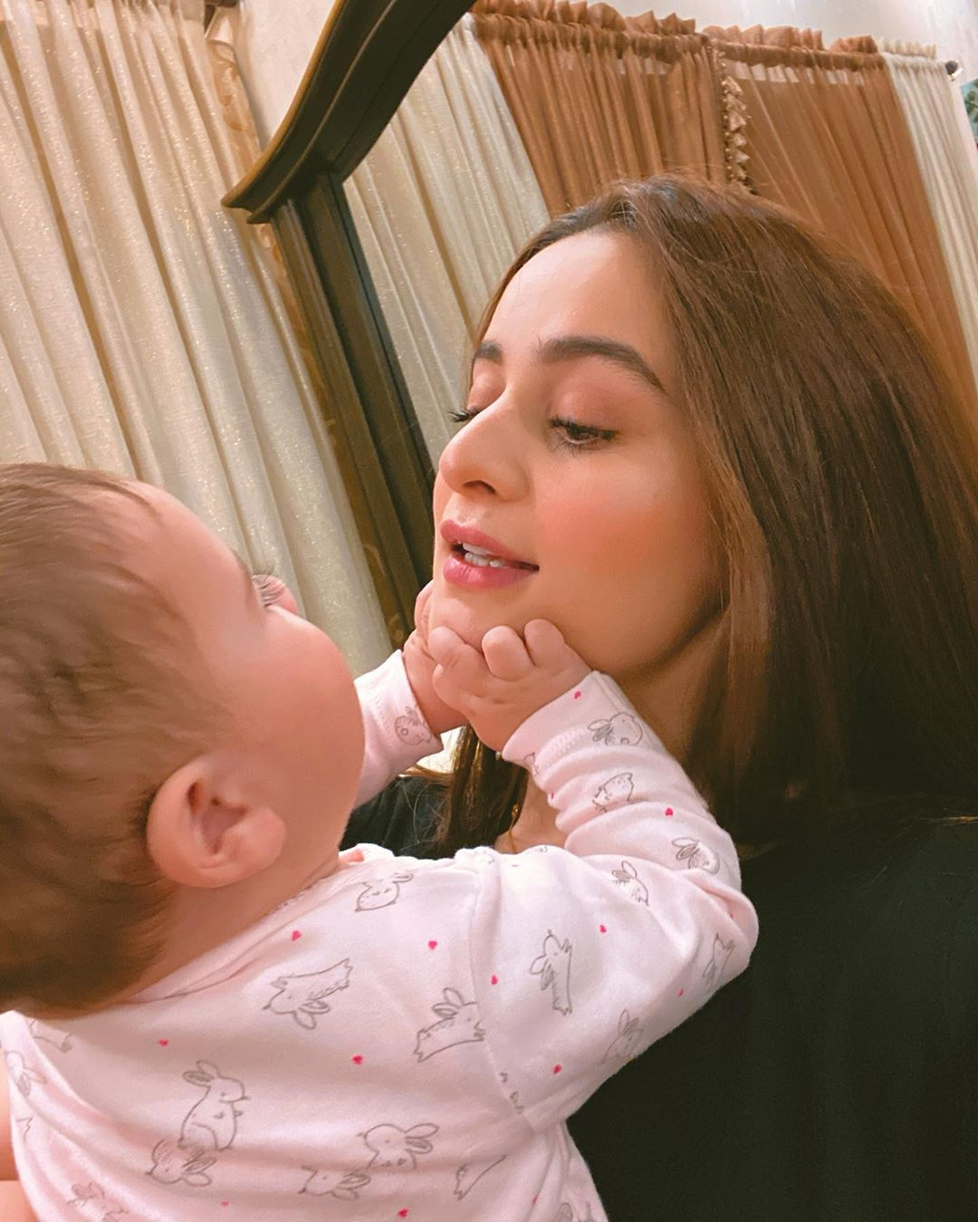 Aiman Khan and Muneeb Butt Latest Pictures and Video Call Interview