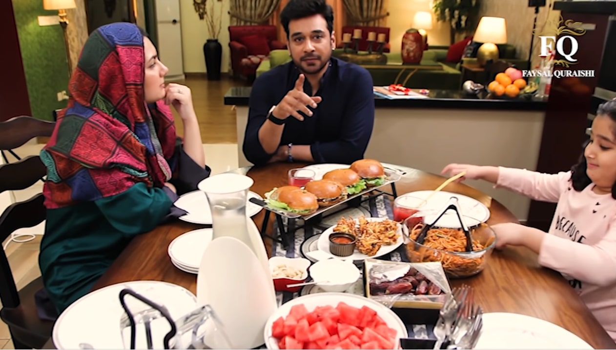 Faysal Qureshi Cooking Iftari with his Family