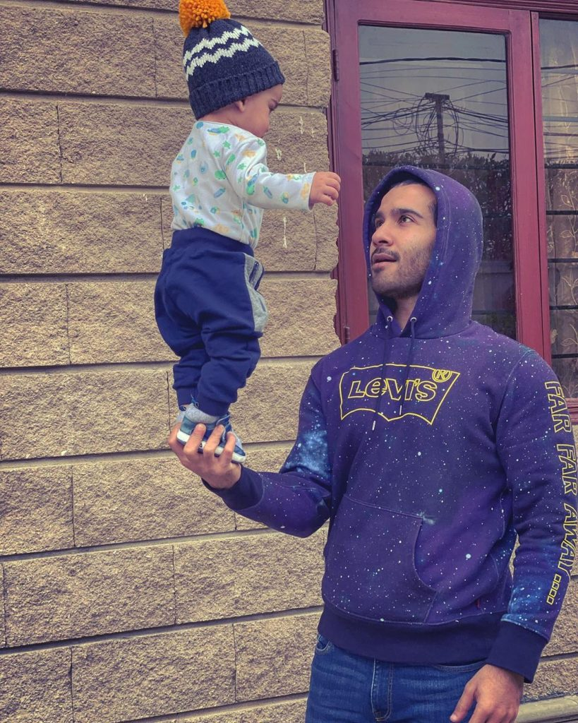 Pictures From Feroze Khan Son's First Birthday