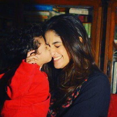 Lively Pictures of Nadia Jamil with her Sons