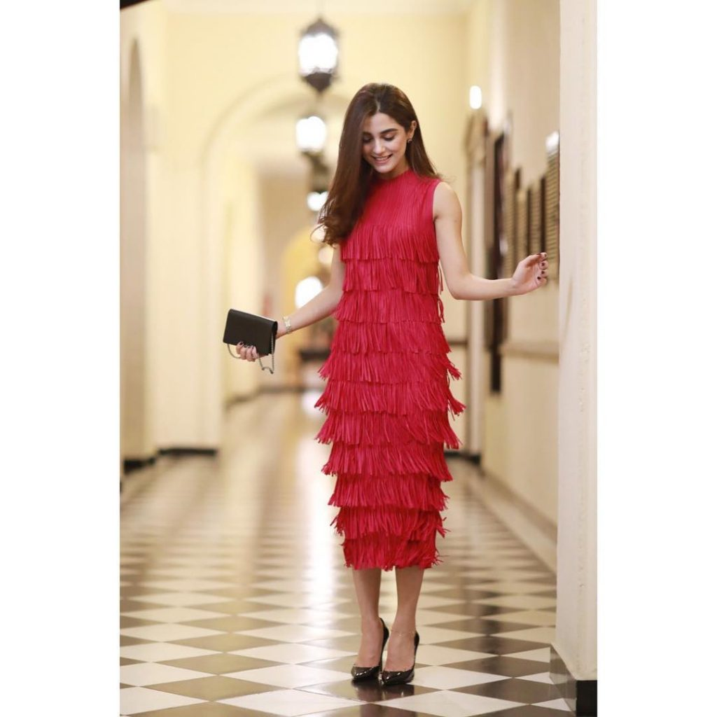 Gorgeous Maya Ali in Red Dresses