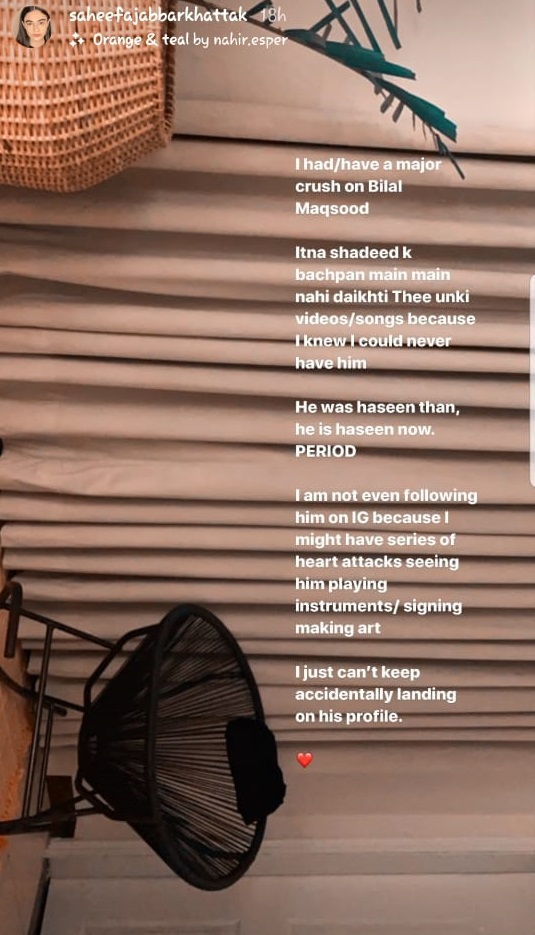 Shaheefa Jabbar Khattak Has A Huge Crush On A Fellow Celebrity