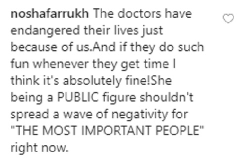 People Are Not Happy With Ushna Shah Being Insensitive About Doctors Taking A Breather