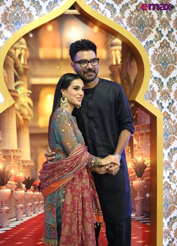 Iqra Aziz and Yasir Hussain Pictures from Reema Khan Ramazan Show