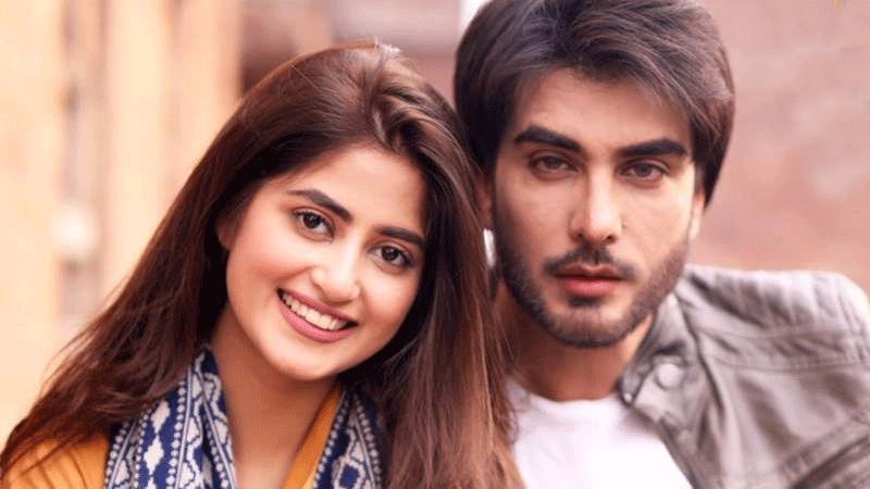 A Funny BTS From The Photo Shoot Of Sajal Aly And Imran Abbas