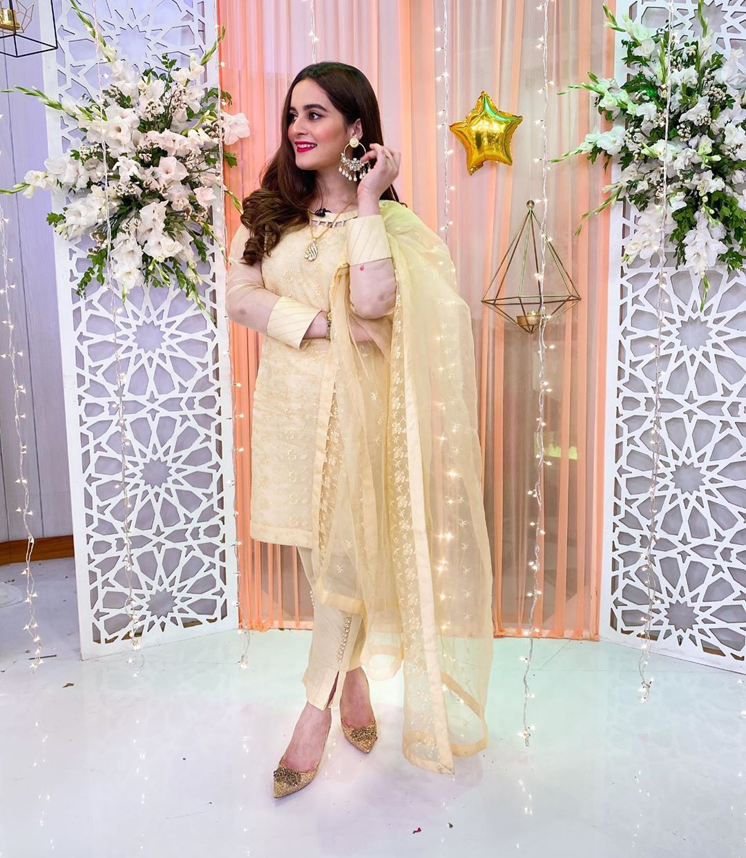 Aiman Khan Latest Clicks Wearing her Brand Aiman Minal Closet