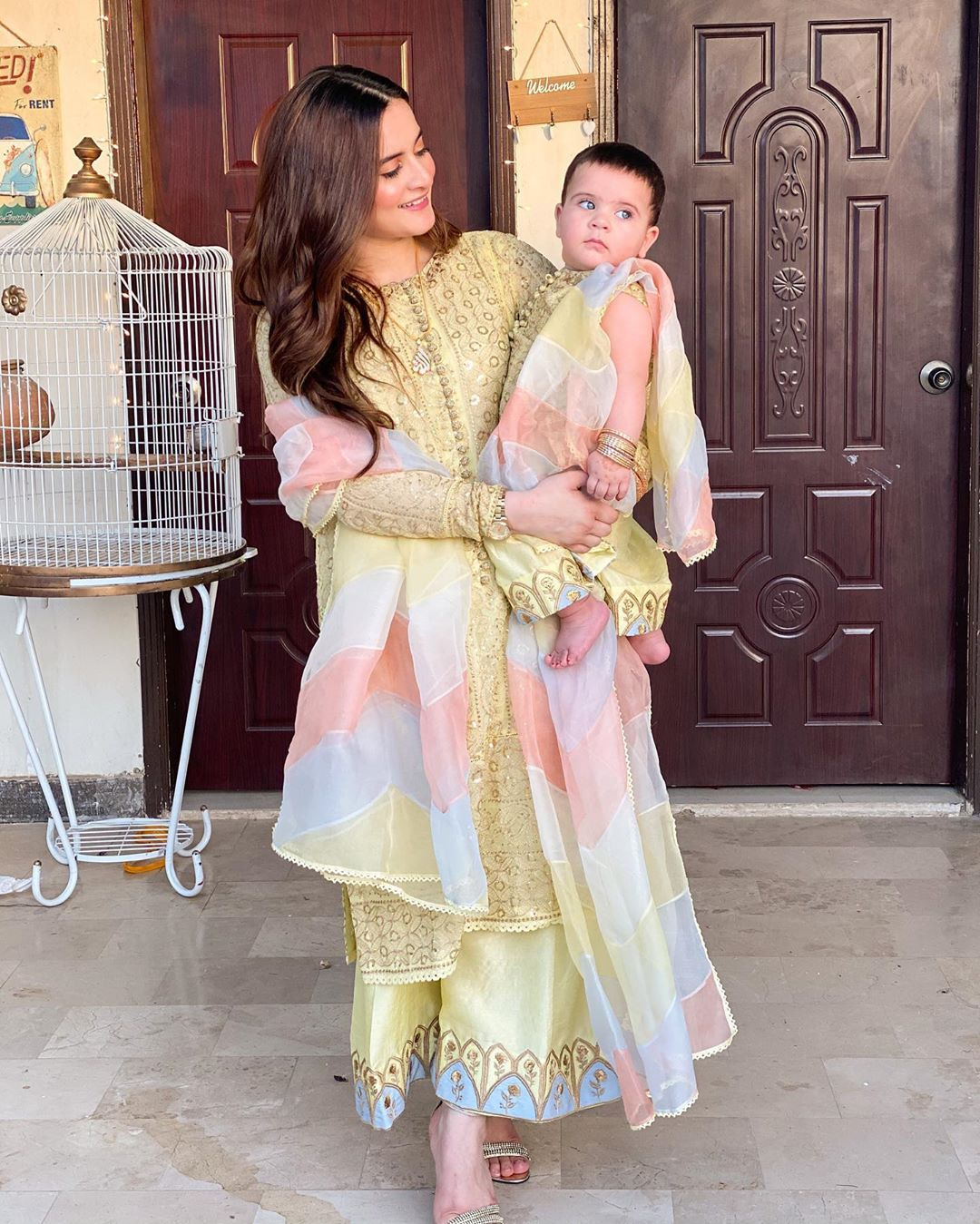 Aiman Khan and Muneeb Butt Beautiful Eid Pictures