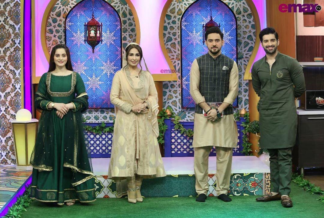 Aiman Khan and Muneeb Butt in Baraan-e-Rahmat Ramazan Show