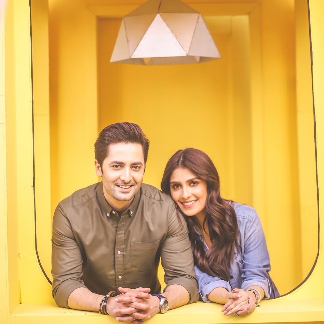 BTS Pictures from Ad Shoot of Ayeza Khan and Danish Taimoor