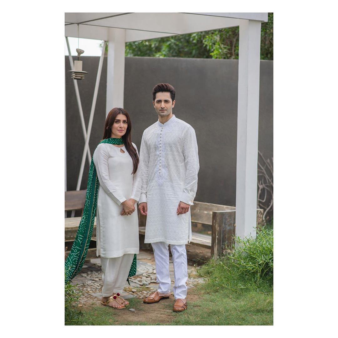Ayeza Khan and Danish Taimoor Eid Pictures with Kids