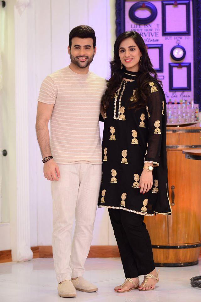 Faizan Sheikh with Wife Maham Amir in Good Morning Pakistan