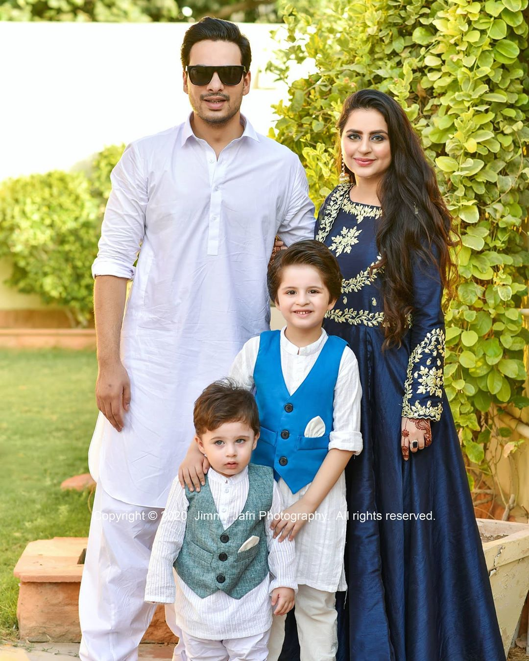 Fatima Effendi and Kanwar Arsalan Eid Pictures with Kids 14