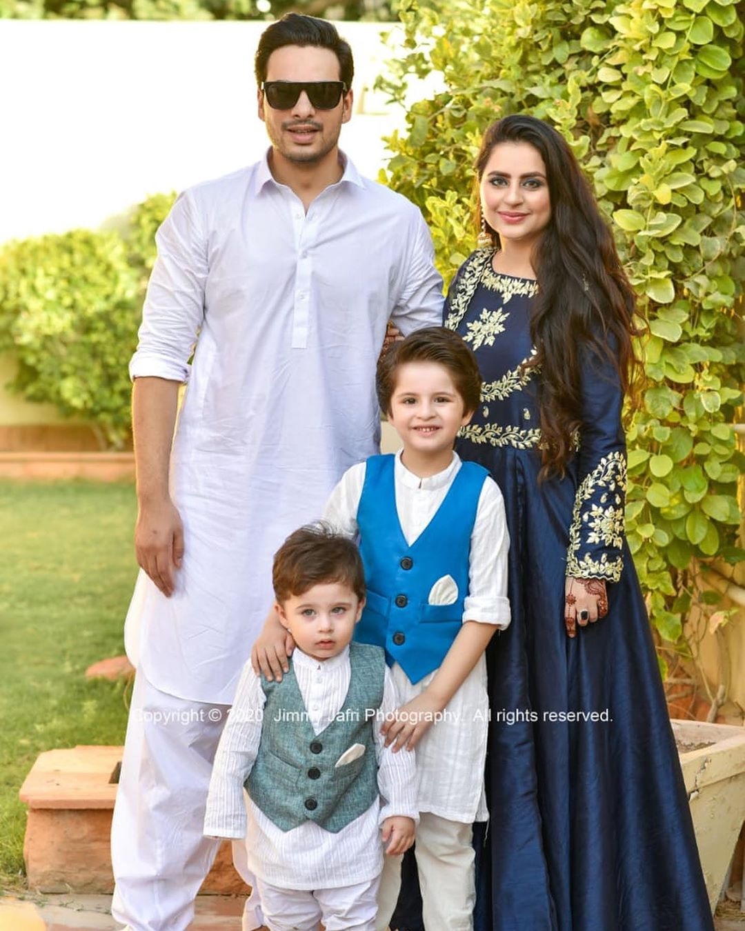 Fatima Effendi and Kanwar Arsalan Eid Pictures with Kids 9