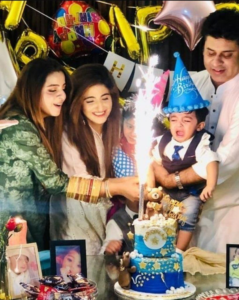 Fatima Sohail Celebrating Her Son's First Birthday