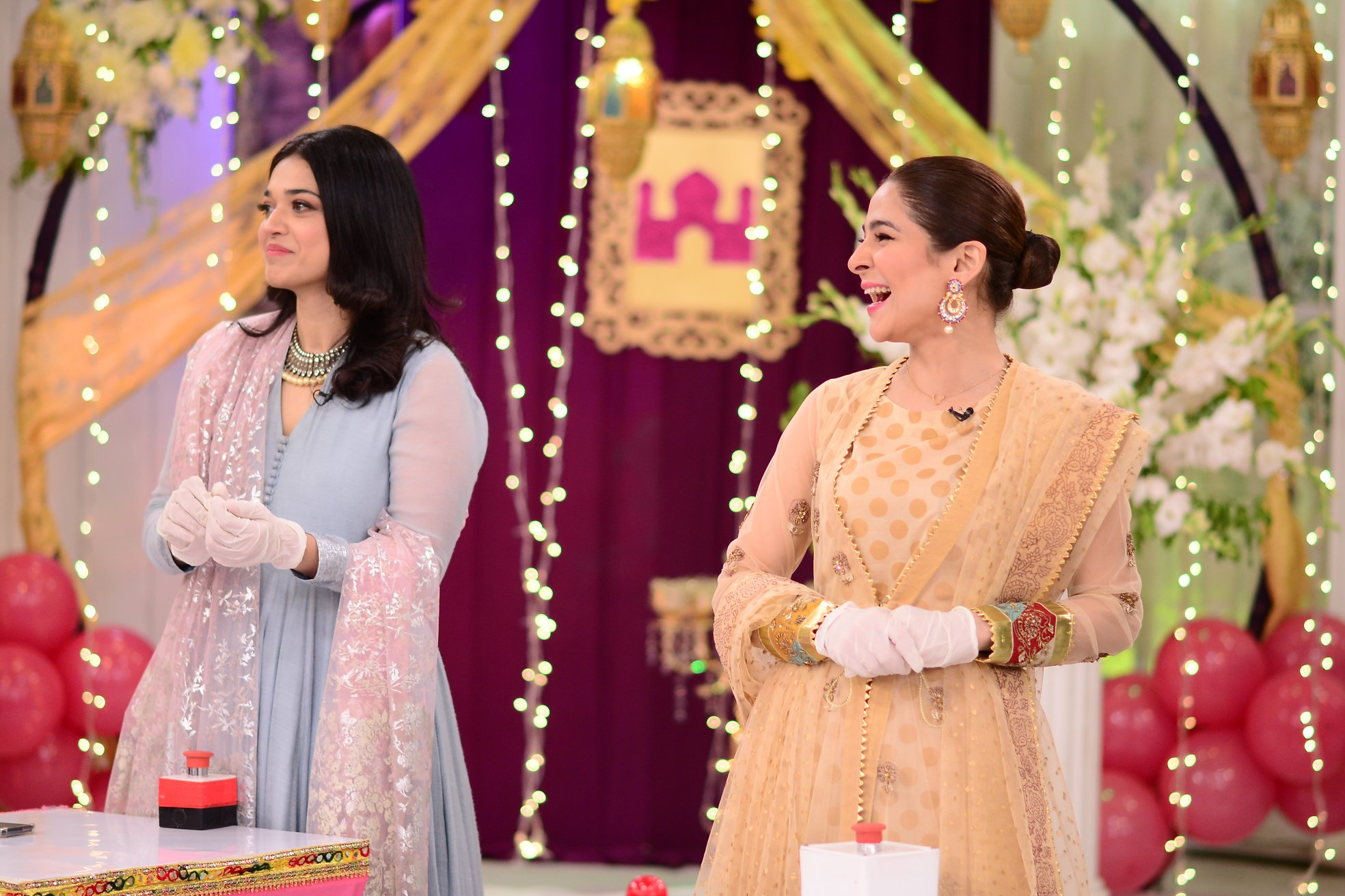 Celebrities Pictures from Good Morning Pakistan Eid Special Day 2
