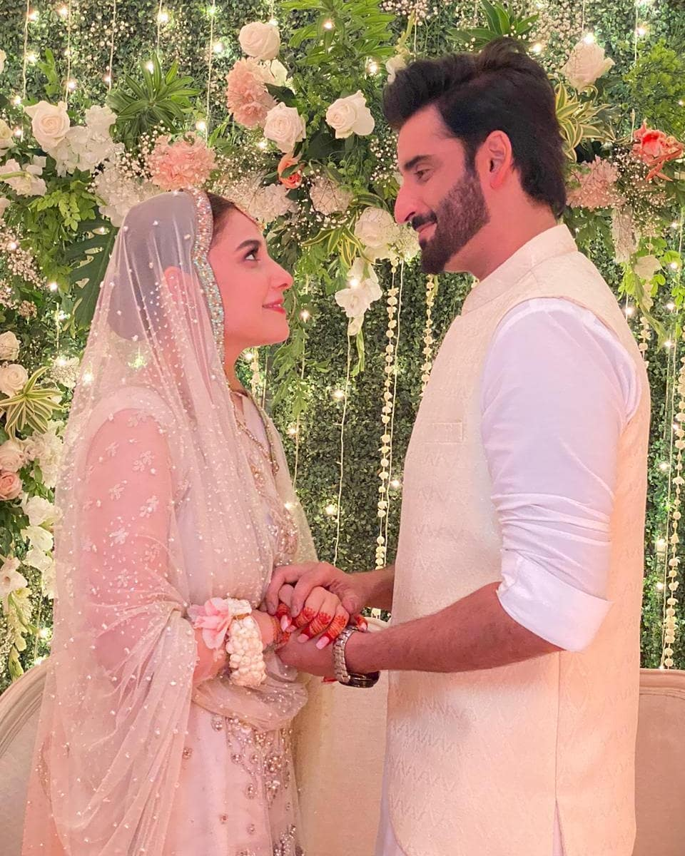 Hina Altaf and Aagha Ali New Beautiful Nikah Pictures