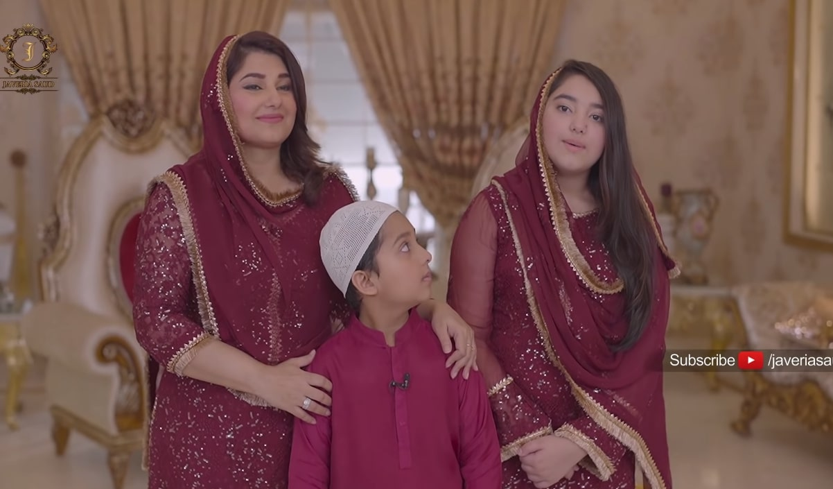 Javeria Saud Pictures with Kids From Ramazan Transmission