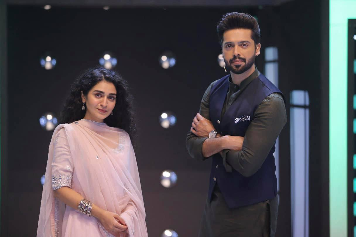 Imran Ashraf and Hajra Yamin Pictures from Jeeto Pakistan League