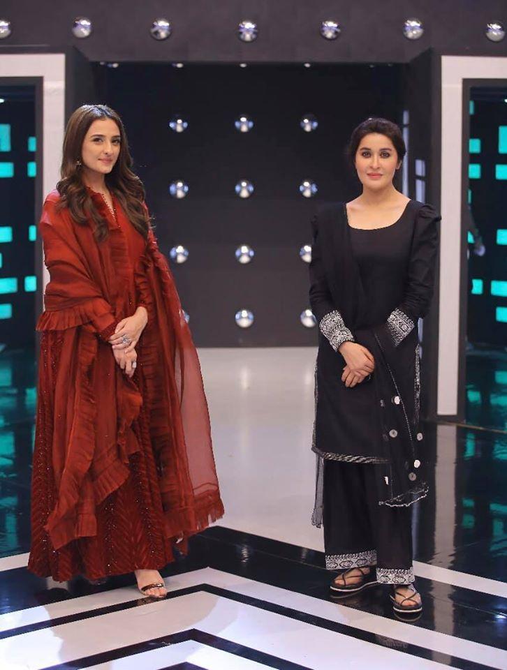 Shehzad Sheikh and Moomal Sheikh Beautiful Clicks from Jeeto Pakistan League