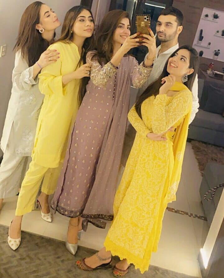 Kinza Hashmi, Saboor Aly and Minal Khan Eid Gathering With Friends