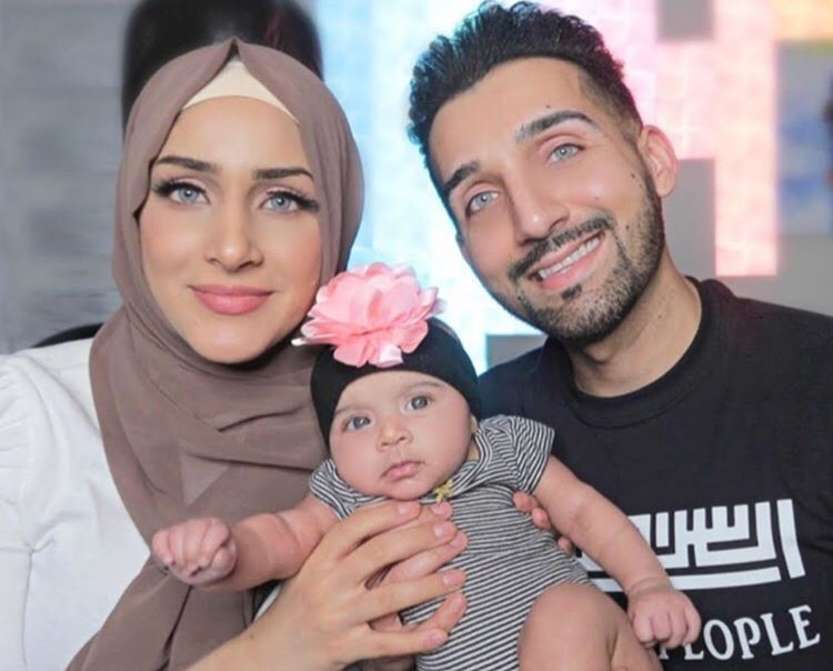 Sham Idrees with Wife Froggy and New Born Baby Girl