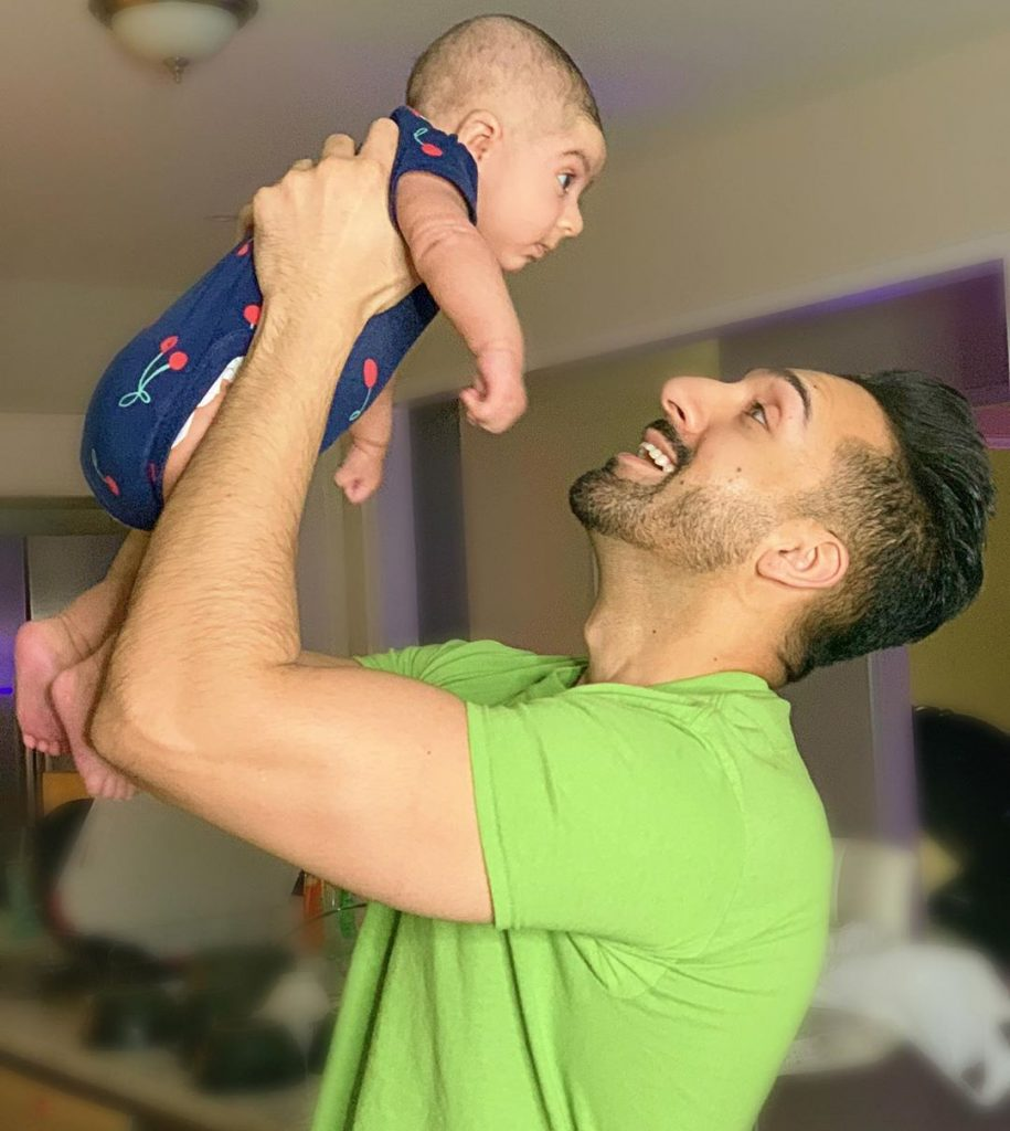 Sham Idrees And Froggy With Baby Sierra