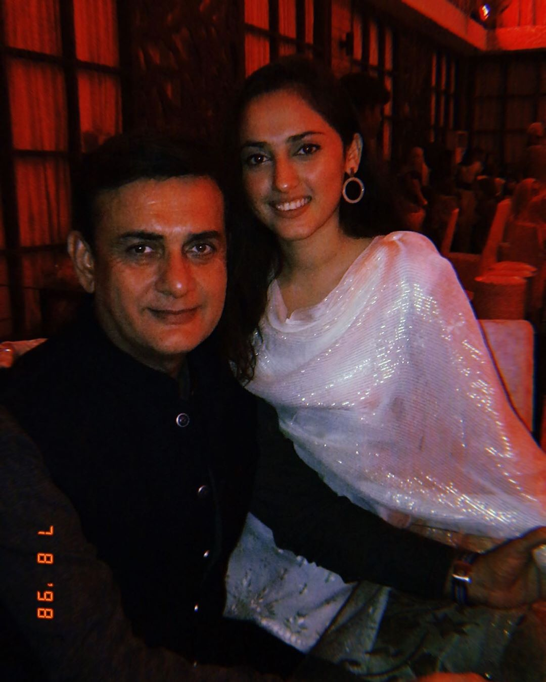 Actor Shahood Alvi with his Daughter Areeja Shahood - Latest Pictures