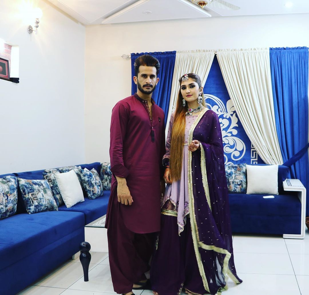 Latest Pictures of Hassan Ali with his Wife Samiya Arzoo