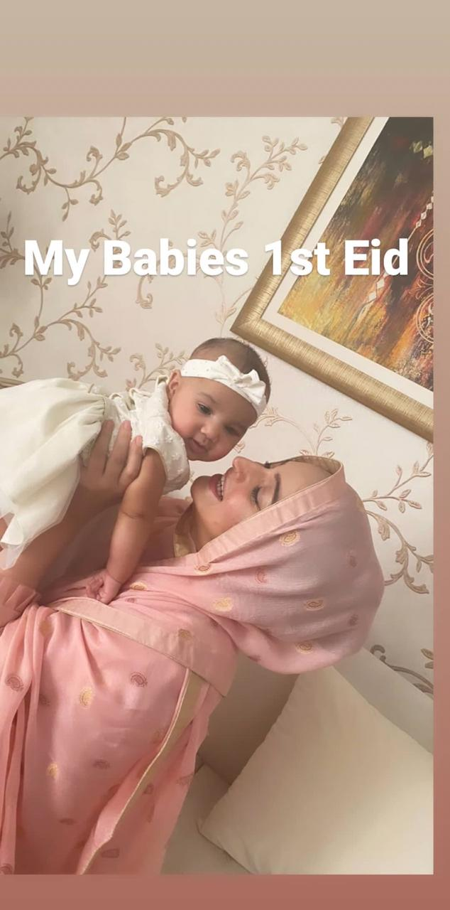 Noor Bukhari Celebrated Eid with Her Newly Born Daughter