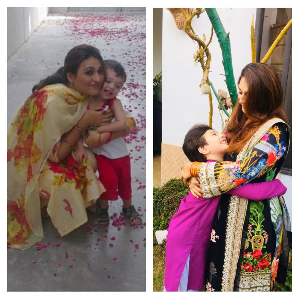 Qurat ul Ain Iqrar with Her Son Pehlaaj - Adorable Pictures