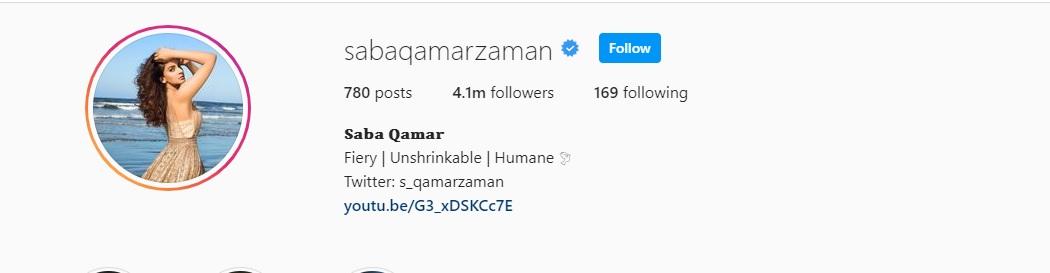 Saba Qamar - Complete Information - Age, Instagram, Love Life, Husband