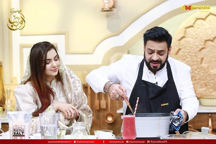 Syeda Tuba Amir Beautiful Clicks From Amir Liaquat Ramazan Show