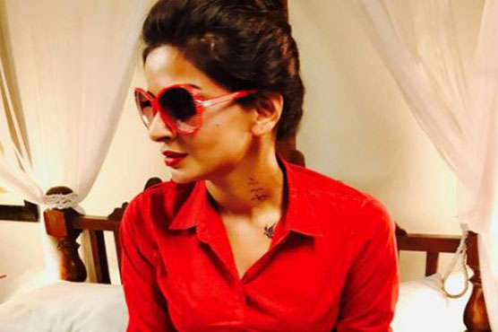 Rare Pictures of Saba Qamar in Red