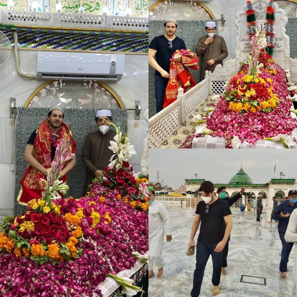 Ahsan Khan Pays Visit To Data Darbar 5