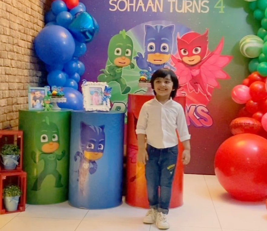 Bilal Qureshi and Uroosa Son Sohaan 4th Birthday Pictures