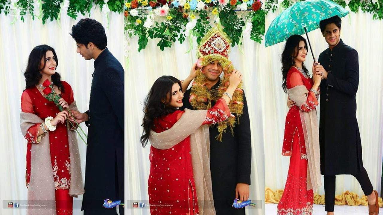 Celebrity Couple Haris Waheed and Maryam Fatima Beautiful Pictures