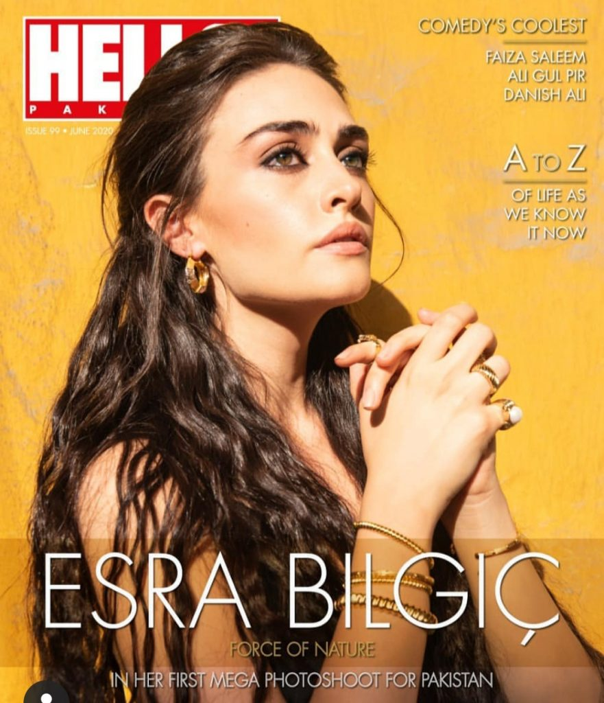 Esra Bilgic Photo Shoot For Pakistani Magazine